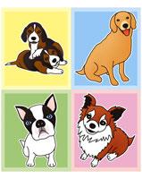 色々な犬(イラスト)