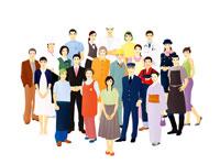 様々な職業の群衆 07045000187| 写真素材・ストックフォト・画像・イラスト素材|アマナイメージズ