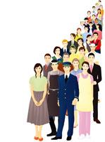 様々な職業の群衆 07045000188| 写真素材・ストックフォト・画像・イラスト素材|アマナイメージズ