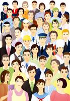 様々な職業の群衆 07045000197| 写真素材・ストックフォト・画像・イラスト素材|アマナイメージズ