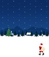 雪降る町にやってきたサンタクロース 07045000272| 写真素材・ストックフォト・画像・イラスト素材|アマナイメージズ