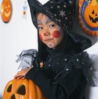 ハロウィンの日本人の女の子