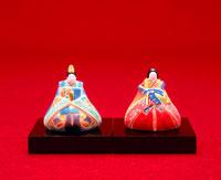 博多人形の雛飾り