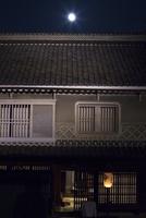 愛媛県 中秋の名月と白壁の家