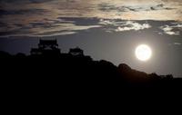 愛媛県 松山城と中秋の名月