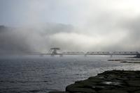 愛媛県 肱川あらしと長浜大橋