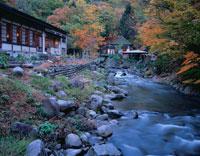 秋の青荷温泉 青森県 20005000093| 写真素材・ストックフォト・画像・イラスト素材|アマナイメージズ