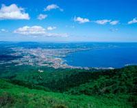 釜臥山より陸奥湾の眺望