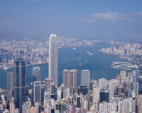 ビクトリアピークより見た香港市街