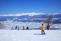 富良野スキー場と大雪山 北海道