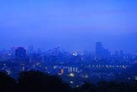 青葉山から望む仙台の朝 宮城県