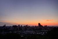 青葉山から望む仙台の朝焼け 宮城県