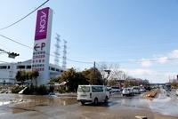 東日本大震災 イオン多賀城店付近