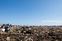 東日本大震災 仙台東部道路名取インター付近