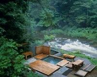 薬研渓流の露天風呂 青森県