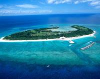 水納島 空撮 20007002335| 写真素材・ストックフォト・画像・イラスト素材|アマナイメージズ
