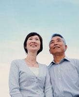 青空と中高年夫婦