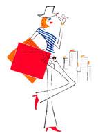 ショッピングバッグを持った女性イメージ