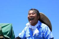 笑顔の農夫