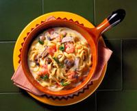 フィットチーネ(きのこクリームスープ)