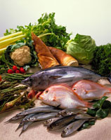 春の魚介と野菜