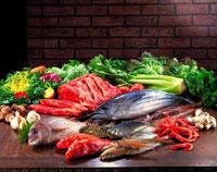 魚、肉、野菜集合