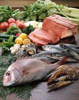 食材集合(肉、魚介、野菜) 20013002051| 写真素材・ストックフォト・画像・イラスト素材|アマナイメージズ