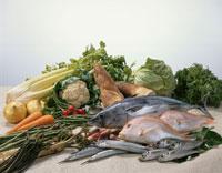 春の食材(魚介、野菜)