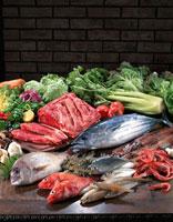 食材集合(肉、魚介、野菜)