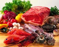 食材集合(肉、魚介、野菜) 20013003465| 写真素材・ストックフォト・画像・イラスト素材|アマナイメージズ