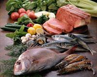 肉、魚介と野菜
