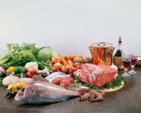 肉・魚介・野菜 20013005641| 写真素材・ストックフォト・画像・イラスト素材|アマナイメージズ