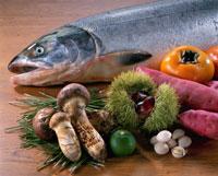 秋素材集合(鮭) 20013005652| 写真素材・ストックフォト・画像・イラスト素材|アマナイメージズ