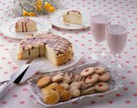 クッキーとミルクレープ