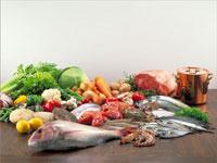 肉、魚介、野菜
