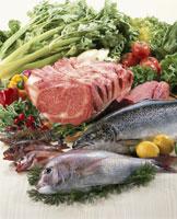 肉、魚介、野菜集合
