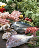 魚介・豚肉・野菜集合