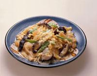 椎茸とかんぴょうの卵とじ