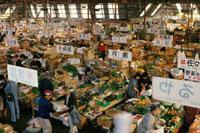 函館市場 20013016737  写真素材・ストックフォト・画像・イラスト素材 アマナイメージズ