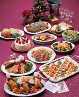 クリスマスのパーティ料理