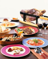 イタリア料理(アクアパッツォ他) 20013018122| 写真素材・ストックフォト・画像・イラスト素材|アマナイメージズ