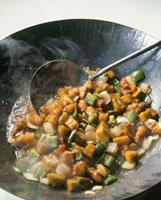 豚肉とかぼちゃの甘酢煮