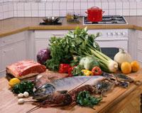 肉と魚介と野菜 20013023523| 写真素材・ストックフォト・画像・イラスト素材|アマナイメージズ