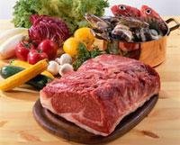 肉と魚介と野菜 20013023541| 写真素材・ストックフォト・画像・イラスト素材|アマナイメージズ