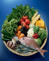 魚介と野菜 20013023553| 写真素材・ストックフォト・画像・イラスト素材|アマナイメージズ