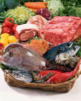 肉と魚介 20013023555| 写真素材・ストックフォト・画像・イラスト素材|アマナイメージズ