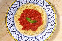 スパゲティ(トマトソース) 20013024602| 写真素材・ストックフォト・画像・イラスト素材|アマナイメージズ