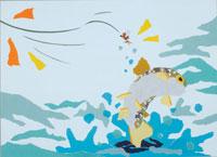 釣りのイラスト 20014002164| 写真素材・ストックフォト・画像・イラスト素材|アマナイメージズ