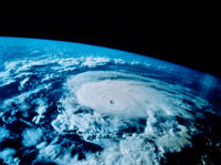 宇宙から見た台風「ボニー」