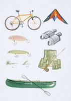 アウトドアグッスのイラスト 20014003108| 写真素材・ストックフォト・画像・イラスト素材|アマナイメージズ